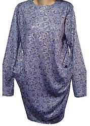 Платье женское карманы узор с напылением полу батал (деми)