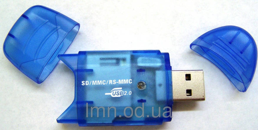 Картридер CARD READER SD-Card картридер внешний - для SD/MMC/RS-MMC карт, фото 2