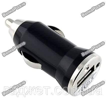 Автомобильное зарядное устройство переходник адаптер USB HHT-001 черного цвета