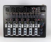 Профессиональный аудио микшерный пульт Mixer BT-7000 4ch, 4 х канальный