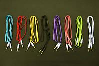 Аудио-кабель AUX 3.5 jack/M/M 1м  (лапша тонкая )