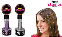 Цветная печать, штамп для волос Hot Stamps, Хот Штамп