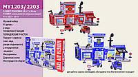 Паркинг MY12032203 157555561 12шт2 игр.набор, с инструм., рацией, в коробке 54736см