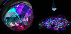 Светодиодная диско лампочка DR 666, цветомузыка, фото 2