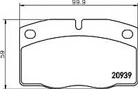 Тормозные колодки дисковые TX 2093903=2093905/2093915404, Корса, Кадет, Омега, Вектра
