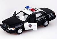 Детская Инерционная Машина Ford Crown Victoria Police, машинка металлическая KT5327W KINSMART