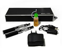 Комплект из двух электронных сигарет Ego-t CE4 и жидкостью в комплекте в коробке аккумулятор 1100mAh, фото 2