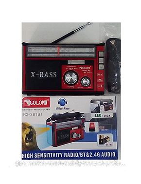 Радиоприемник Golon RX-382 USB/SD/MP3 с фонарем, фото 2