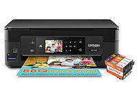 МФУ Epson Expression Home XP-440 с картриджами Lucky Print