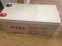 Аккумулятор Ataba 12V, 200А ― герметичный кислотно-свинцовый
