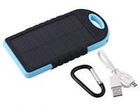 Защищенное солнечное зарядное устройство POWER BANK Solar с карабином 25000 мА/ч