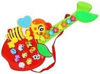 Музыкальная развивающая игрушка Яблочко CY-6061B, интерактивная игрушка яблочко гитара CY 6061 B