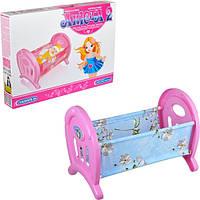 Детская кроватка для кукол Анюта 2, кроватка 5019 Максимус