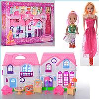 Детский Игровой Кукольный Домик 689-9, домик для кукол с мебелью 689