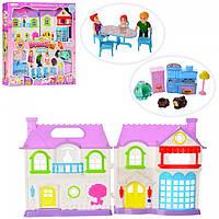 Детский Музыкальный Кукольный Домик 8110, домик для кукол с мебелью 8110
