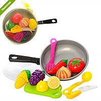 Детский игрушечный набор Продукты на липучке A306, игровой набор продукты сковородка на липучке 306