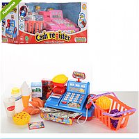 Детский обучающий набор Кассовый аппарат 5510-11, игрушечный музыкальный кассовый аппарат 5510