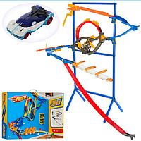 Детский Инерционный Настенный Трек ML32461 Hot Wheels на стойке, Игровой Трек 32461 Хот Вилс