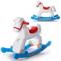 Детская Пластмассовая Качалка Лошадь 146 с колесами, Качалка Лошадка 146 Орион