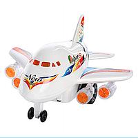 Детская Игрушка Самолет 0869 A заводной, Заводной Самолет 0869 светится