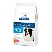 Hills PD Canine D/D Лосось рис, лечебный корм для собак, против заболеваний ЖКТ, 2кг