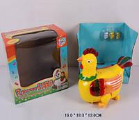 Муз.курочка-несушка, на батар., свет, несет яйца, в кор. 19*18*13см  (48шт/2)(9500)