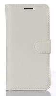 Кожаный чехол-книжка для Xiaomi Redmi 4X белый