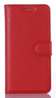 Кожаный чехол-книжка для Xiaomi Redmi 4X красный