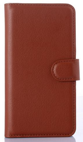 Кожаный чехол книжка для  Nokia Lumia 620 коричневый