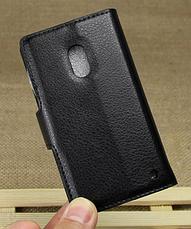 Кожаный чехол книжка для  Nokia Lumia 620 коричневый, фото 2