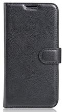 Кожаный чехол-книжка для Meizu M5S черный
