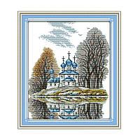 """Набор для вышивания крестиком """"Маленькая церковь"""", в пак. 34*39см(F336)"""