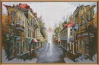 """Набор для вышивания нитками на белой канве """"Город для двоих"""", 40*26см(РЕ2329)"""