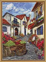 """Набор для вышивания нитками на белой канве """"Солнечный рынок"""", 20*28см(РЕ4343-У)"""