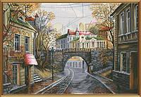 """Набор для вышивания нитками на белой канве """"Старый мост"""", 38*26см(РЕ2334)"""