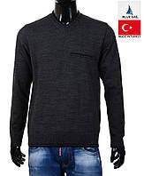 Осенний мужской пуловер Blue Sail-2046 темно-серый