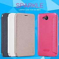 Кожаный чехол (книжка) Nillkin Sparkle Series для Huawei Y6 Pro / Honor Play 5X / Enjoy 5