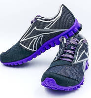 Кроссовки женские спортивные REEBOK REALFLEX J96923 черно-фиолетовые