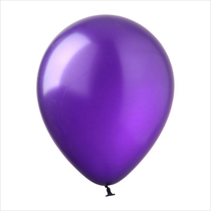 Воздушный шар металлик фиолетовый 12″/30см