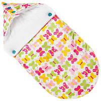 Летний конверт для новорожденных добрые бабочки Goforkid
