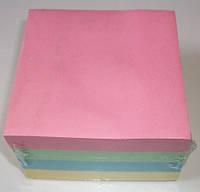 Бумага цветная для заметок с клеем