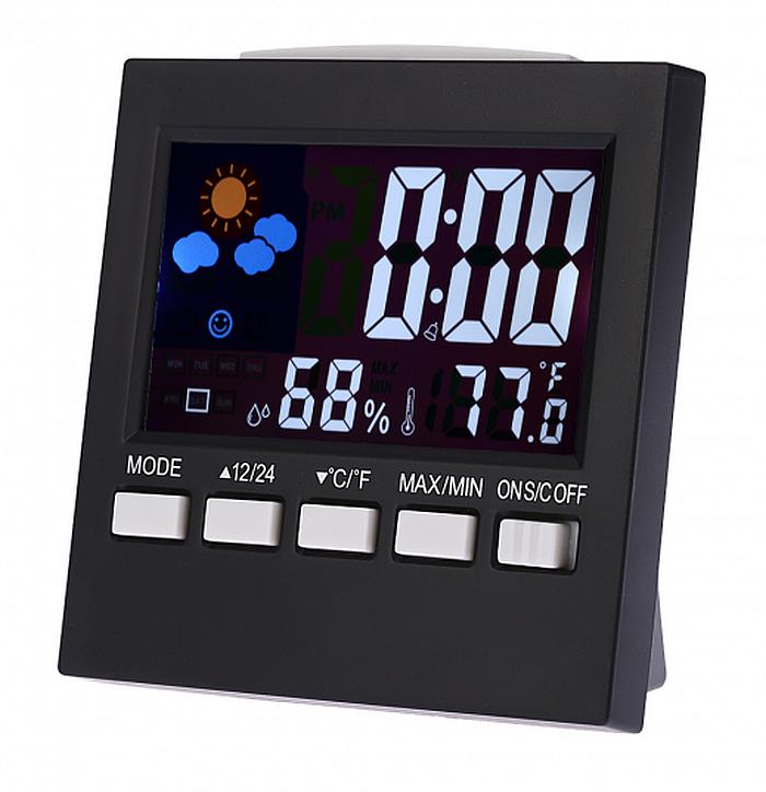 Настольные часы метеостанция 2159T, usb кабель, адаптер