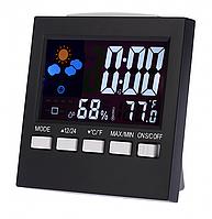 Настольные часы метеостанция 2159T, usb кабель, адаптер, фото 1