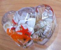 Подставка под ручки  двойное сердце