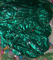 Воздушный шар металлик зеленый 12″/30см