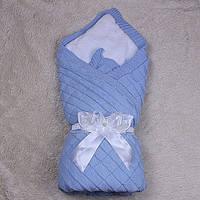 Зимний вязаный конверт одеяло мечта (голубой) Brilliant Baby