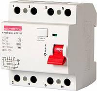 Выключатель дифференциального тока (УЗО) e.rccb.pro.4.25.100 4р 25А 100мА, фото 1