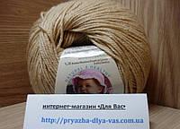 Детская пряжа (40%-шерсть, 20%-бамбук, 40%-акрил, 50 г/175 м) Alize Baby Wool 310(медовый)