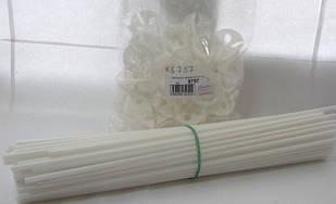 Белые палочки и розетки для шаров 40см (100шт. в упаковке)