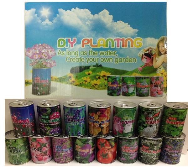 Цветы в банке 0,33л (в упаковке 24шт.)